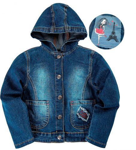 Джинсовый курточка для девочек 6-9 лет Bonito OR761P
