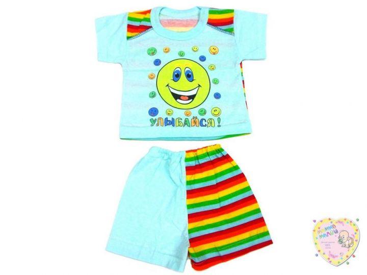 Костюм: футболка, шорты 0986 (супрем, улыбайся)