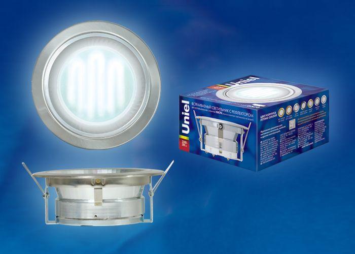 Встраиваемый светильник Uniel GX70/Н-6R SILVER