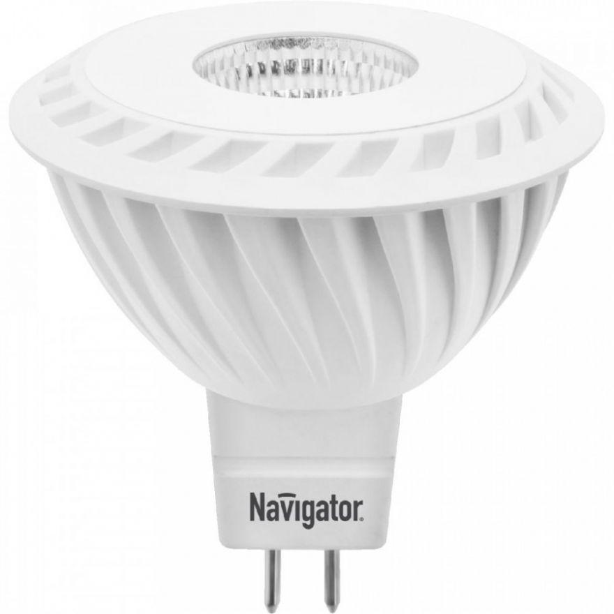 Светодиодная лампа Navigator MR16 GU5.3 5W(350lm) 3000K 3K матов. 53x50 NLL-MR16-5-230-3K-GU5.3-60D (20!) 94365