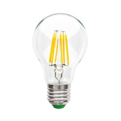 Светодиодная лампа Ecola ЛОН A60 E27 8W 4000K 4K 360° 105x60 филамент (нитевидная), прозр. Premium N7LV80ELC