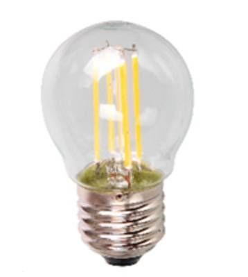 Светодиодная лампа Ecola шар G45 E27 5W 2700K 2K 360° 68x45 филамент (нитевидная), прозр. Premium N7PW50ELC