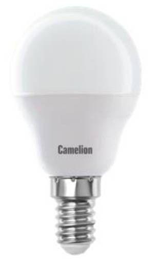 Светодиодная лампа Camelion Шар G45 E14 5W(390lm 220°) 3000K 2K матов. 80x45 пластик LED5-G45/830/E14