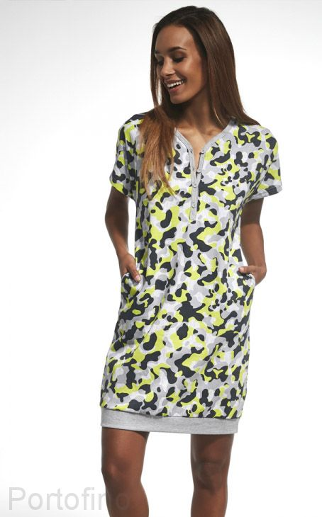 637-160 Сорочка женская короткий рукав Cornette