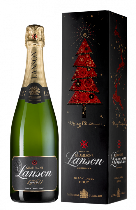 Champagne Lanson Black Label Brut gift box, 0.75 л.