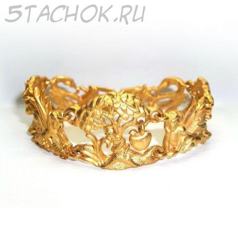 """Браслет """"Адам и Ева"""" цвет античного золота (AJC США)"""
