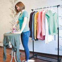 Напольная передвижная стойка для одежды SINGLE-POLE TELESCOPIC CLOTHES RACK (4)
