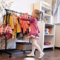 Напольная передвижная стойка для одежды SINGLE-POLE TELESCOPIC CLOTHES RACK (5)
