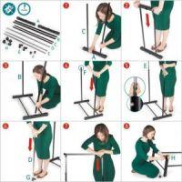 Напольная передвижная стойка для одежды SINGLE-POLE TELESCOPIC CLOTHES RACK (6)