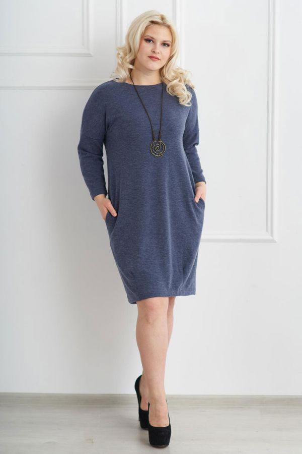 Платье 149 индиго, ангора