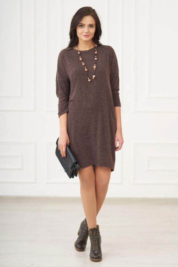 Платье 149 шоколад, ангора