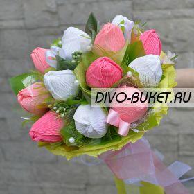 """Букет из конфет №728 """"Первые тюльпаны"""""""