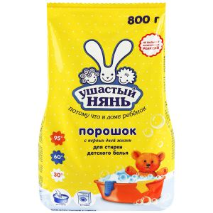 Стиральный порошок Ушастый нянь для стирки детского белья, 800 г