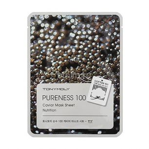Pureness 100 Caviar Mask Sheet, Тканевая маска с экстрактом черной икры, 21 мл