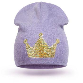 """Шапка """"Корона"""" для девочки 3-5 лет, SG134"""
