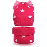 Шапка с ушками и шарф-снуд для девочки 6-12 лет, комплект теплый SG131