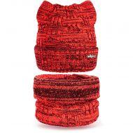 Шапка с ушками и шарф-снуд для девочки 3-5 лет, комплект теплый SG129
