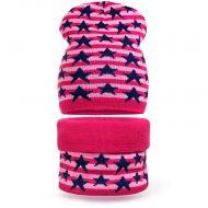 Шапка и снуд для девочки 6-12 лет, комплект теплый SG127