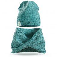 Шапка и шарф-хомут для мальчика 3-5 лет, SG115