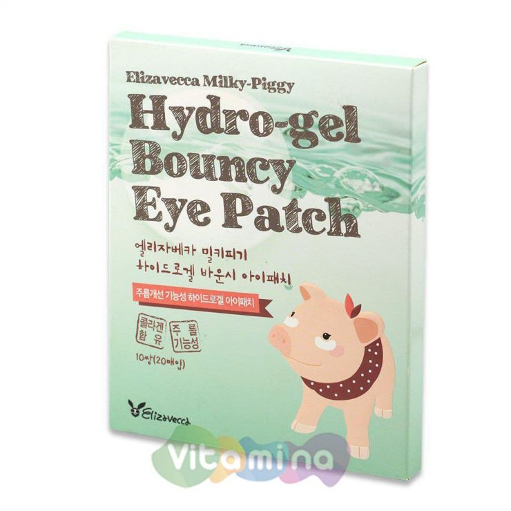 Elizavecca Набор гидрогелевых патчей для кожи вокруг глаз Milky Piggy Hydro-Gel Bouncy Eye Patch