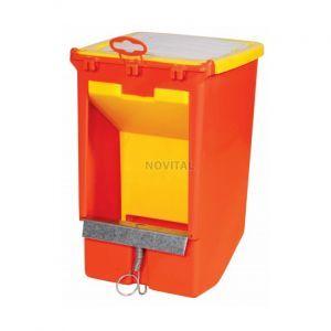 Кормушка бункерная односекционная с крышкой и держателем для учетной карточки