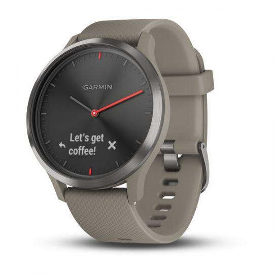 Часы Garmin  Vivomove HR черные с песочным ремешком