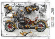 "DANA-3435 Dana. Эскизный Плакат ""Мотоцикл"". А3 (набор 775 рублей)"
