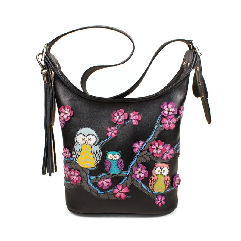 Маленькая сумочка Совята на сакуре >Артикул: AA220115