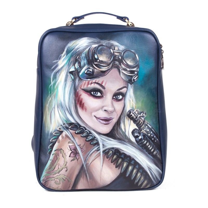 Женский рюкзак Девушка стимпанк >Артикул: AF030091