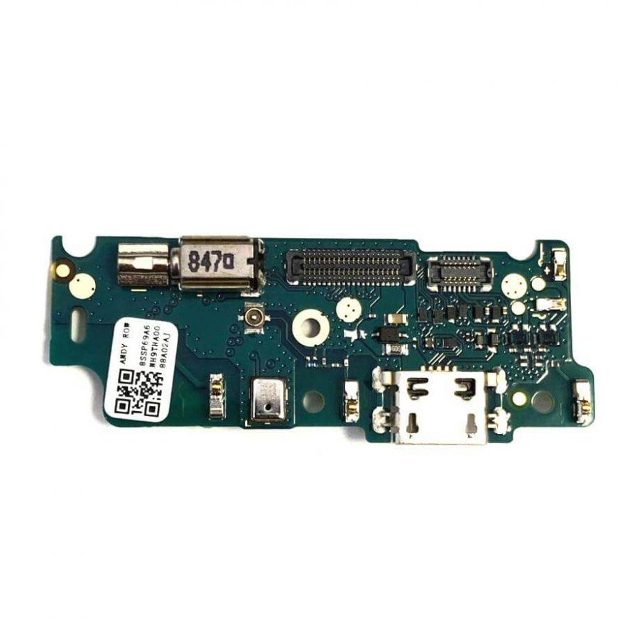 Нижняя плата с разъемом зарядки, виброзвонком и микрофоном для Motorola Moto E4 XT1762 (Original)