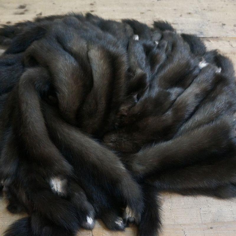 Шубный набор черного соболя 43 шкуры