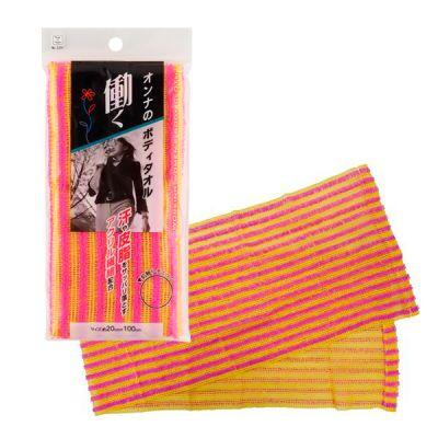 Мочалка женская массажная для тела Kokubo с акриловыми волокнами 110см