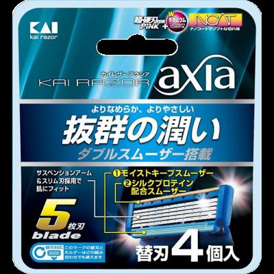Kai Сменные лезвия для бритвы безопасной мужской Axia 5 лезвий 4 шт