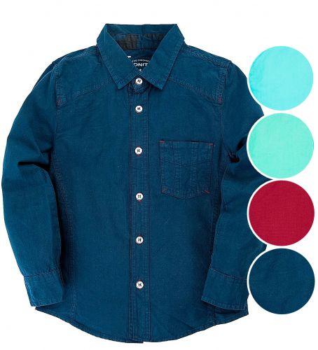 Джинсовая детская рубашка 7-10 лет Bonito BK835C