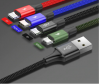 Кабель Baseus 4 в 1 USB - 2хLighting/Type-C/Micro USB