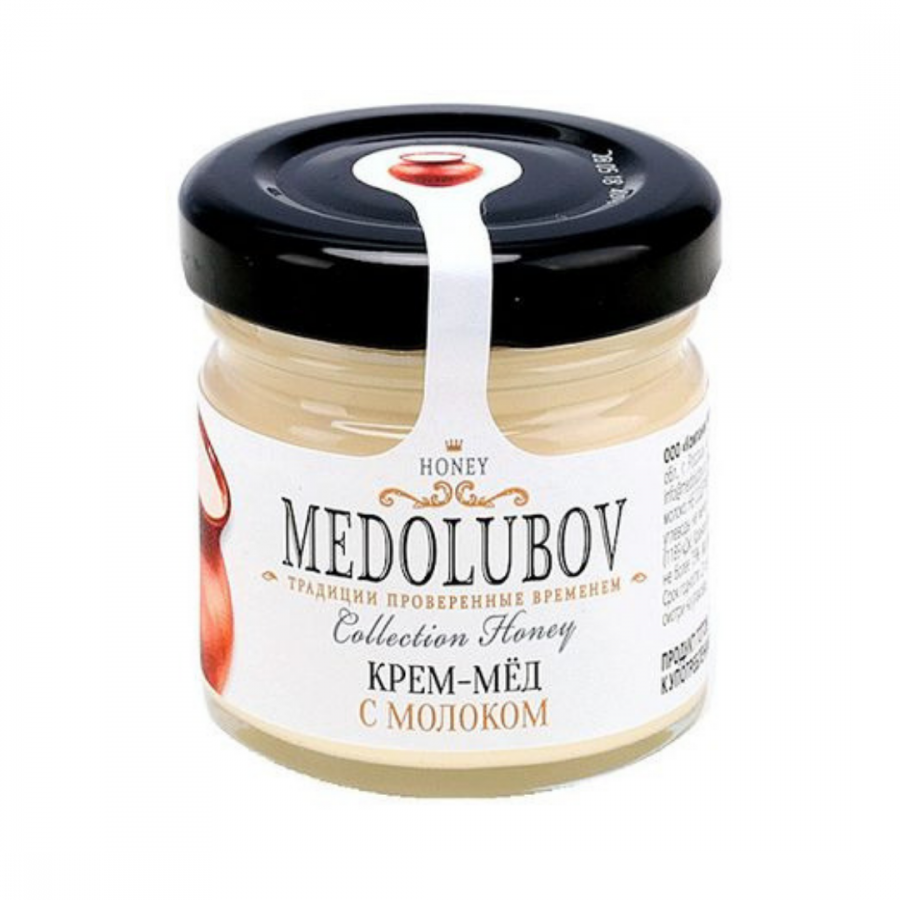 Крем-мёд Medolubov с молоком 40мл