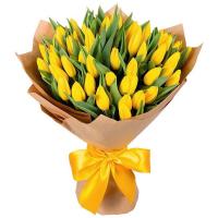 Акция! 51 тюльпан (желтый).