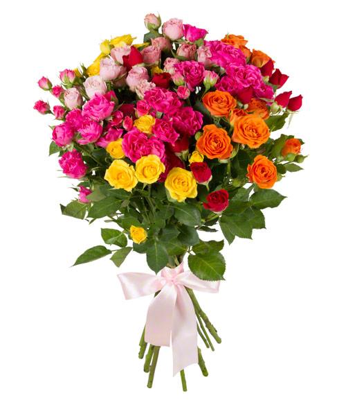 Кустовые розы (микс)