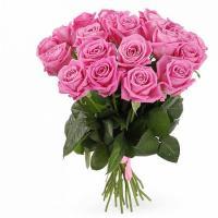 Розы  розовые от 11 шт. Кения 60см