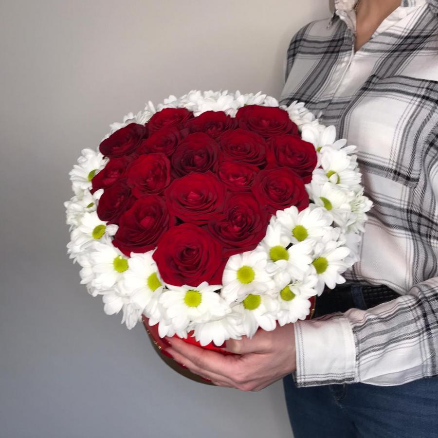 Сердце Розы в ромашках
